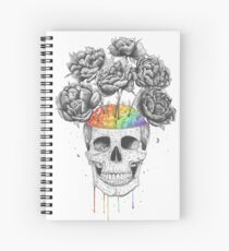 Skull with rainbow brains Spiral Notebook