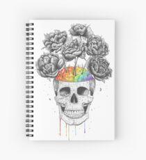 Skull with rainbow brains Spiralblock
