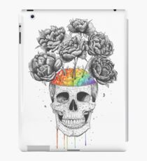 Skull with rainbow brains iPad Case/Skin