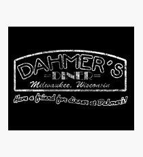 Jeffrey Dahmer - Dahmer's Diner Photographic Print