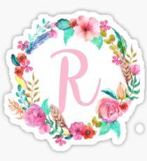 R Monogram  Sticker