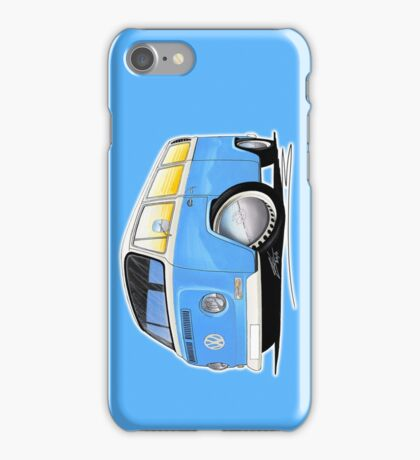 VW Bay (Early) Light Blue iPhone Case/Skin