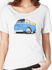 VW Bay (Early) Light Blue Women's Relaxed Fit T-Shirt