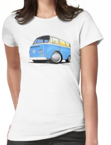 VW Bay (Early) Light Blue Womens Fitted T-Shirt