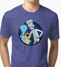 Doofus Rick, Evil Morty and Angry Meeseeks Tri-blend T-Shirt