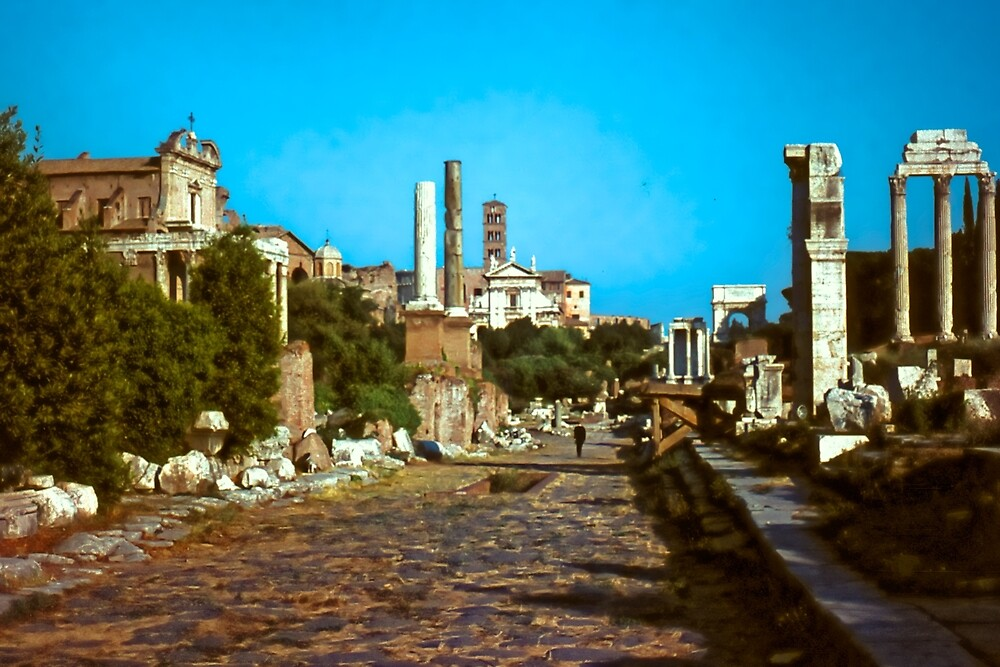 The Forum, Rome, Summer Evening by Priscilla Turner