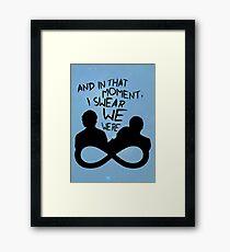 I Swear We Were Infinite Framed Print