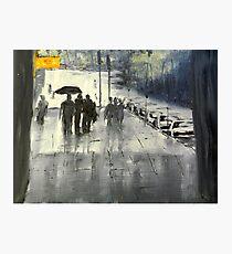Rainy City Street Photographic Print