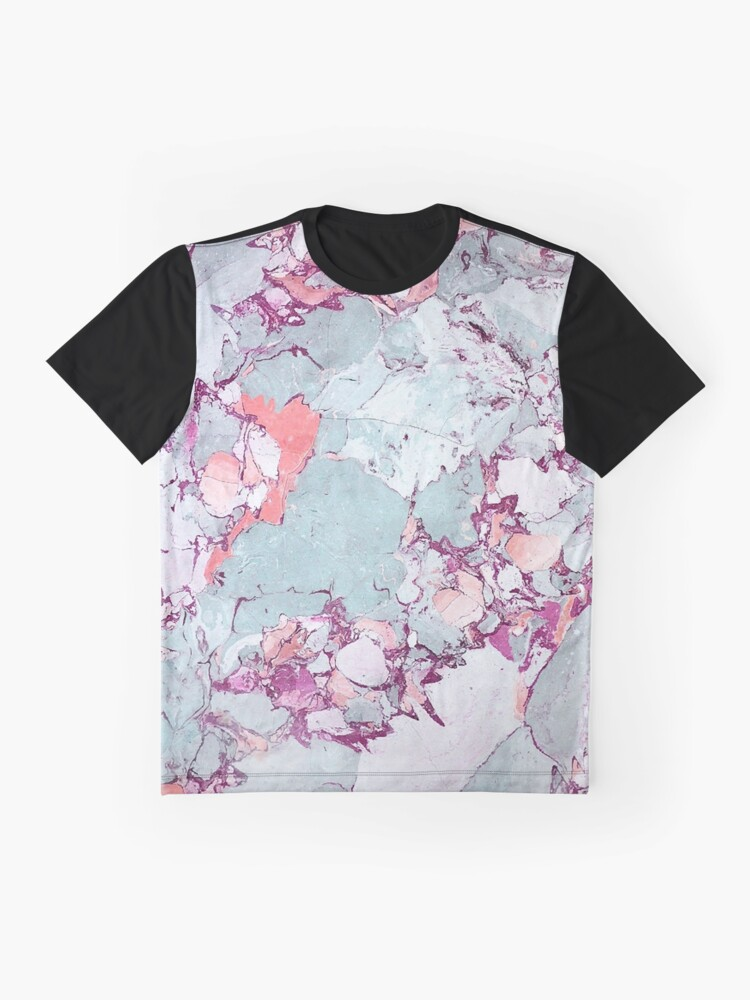 Alternate view of Marble Art V13 #redbubble #pattern #home #tech #lifestyle Graphic T-Shirt