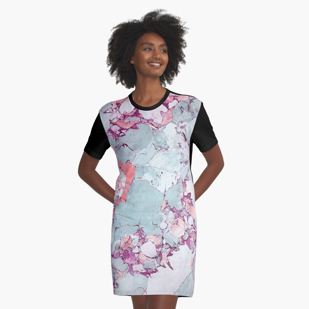 Marmor Art V13 #redbubble #muster #home #tech #lifestyle T-Shirt Kleid
