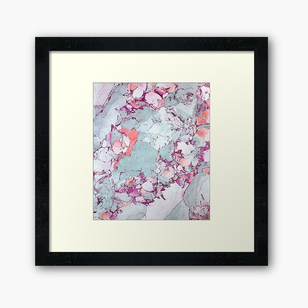 Marmor Art V13 #redbubble #muster #home #tech #lifestyle Gerahmter Kunstdruck