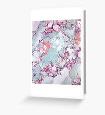 Marble Art V13 #redbubble #pattern #home #tech #lifestyle Greeting Card