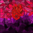 Angry Hand Geometric Abstraction by camzhu