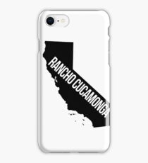 Rancho Cucamonga, California State Silhouette iPhone Case/Skin
