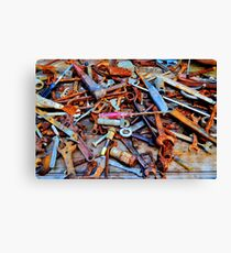 A Rusty Collection. Canvas Print