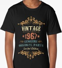50th Birthday Tshirt Vintage 1967 Genuine Original Parts Limited Edition Long T-Shirt