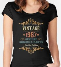 50th Birthday Tshirt Vintage 1967 Genuine Original Parts Limited Edition Women's Fitted Scoop T-Shirt