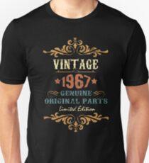 50th Birthday Tshirt Vintage 1967 Genuine Original Parts Limited Edition T-Shirt