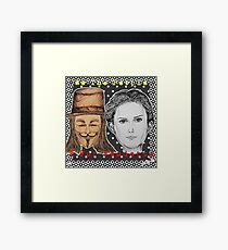 (V For Vendetta - We The People) - yks by ofs珊 Framed Print