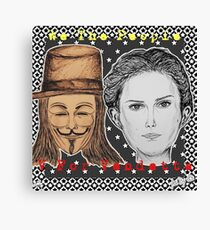 (V For Vendetta - We The People) - yks by ofs珊 Canvas Print