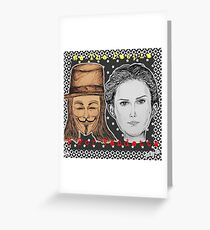 (V For Vendetta - We The People) - yks by ofs珊 Greeting Card