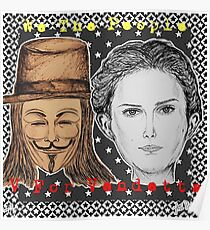 (V For Vendetta - We The People) - yks by ofs珊 Poster