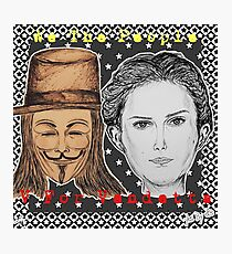 (V For Vendetta - We The People) - yks by ofs珊 Photographic Print