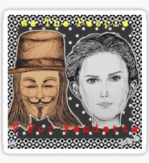 (V For Vendetta - We The People) - yks by ofs珊 Sticker