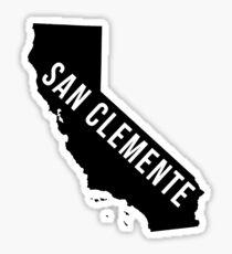 San Clemente, California State Silhouette Sticker
