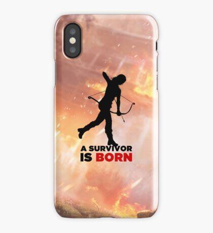 A Survivor is Born [black] iPhone Case/Skin