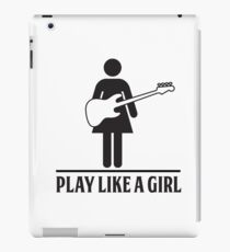 Play Like a Girl - Bass iPad Case/Skin