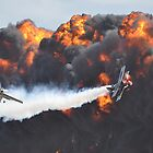 Wall Of Flame Flypast,Avalon Airshow,Australia 2017 by muz2142