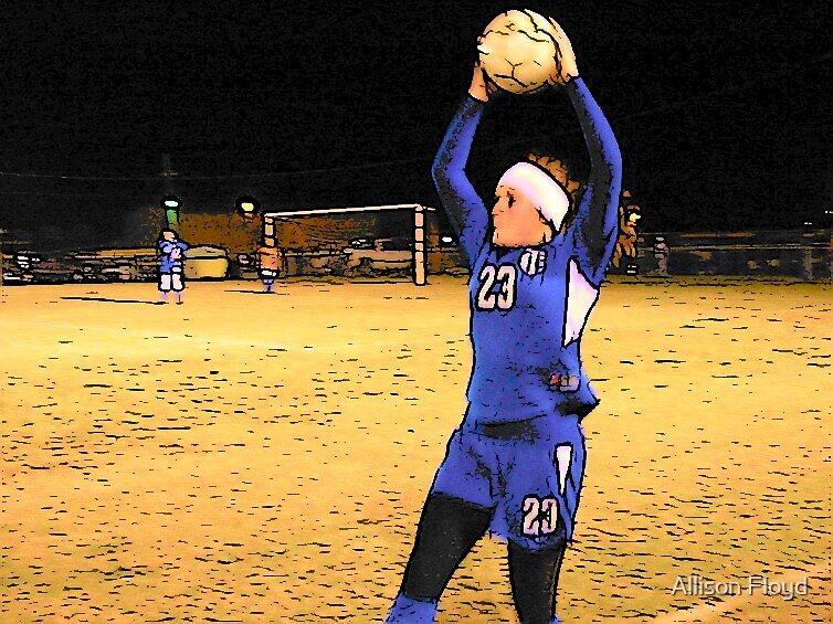 Soccer Throw In by Allison Floyd