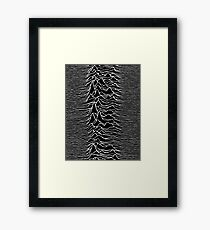 CP 1919 - Joy Division Unknown Pleasures: White on clear Framed Print