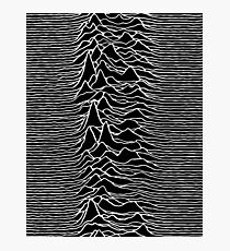 CP 1919 - Joy Division Unknown Pleasures: White on clear Photographic Print