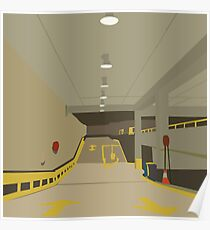 0063 Undercover car park ramp Poster
