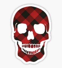 Flannel Skull Sticker