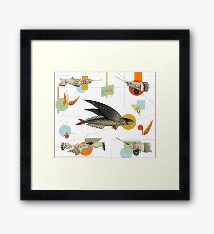 FLY FISH FLY Framed Print