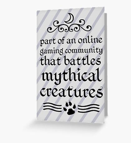 Mythical Creatures Greeting Card