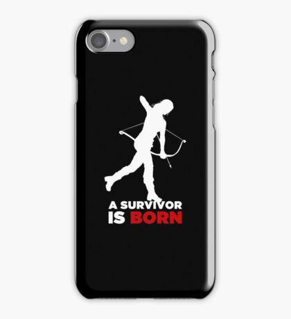 A Survivor is Born [white] iPhone Case/Skin