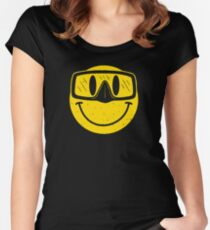 Smiley Goggles Face Women's Fitted Scoop T-Shirt