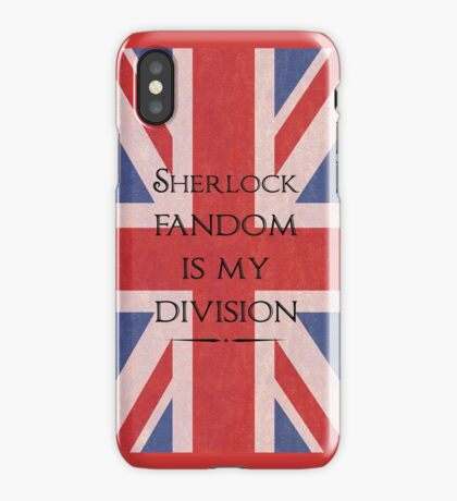 Sherlock Fandom Is My Division iPhone Case/Skin