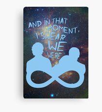 I Swear We Were Infinite III Canvas Print