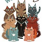 We Like You (Cat illustration) by Lisafrancesjudd