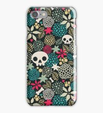 Skulls and flowers (2) iPhone Case/Skin