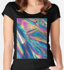 holographic Women's Fitted Scoop T-Shirt