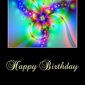 Happy Birthday Flower Fractals by exandra