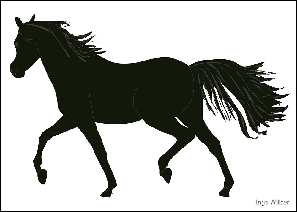 Black Beauty Horse by Inge Willsen
