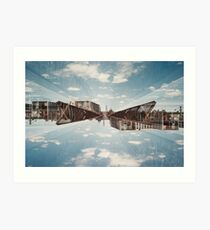 n°154: Double exposure at the station Art Print