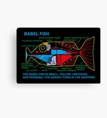 NDVH Babel Fish Canvas Print